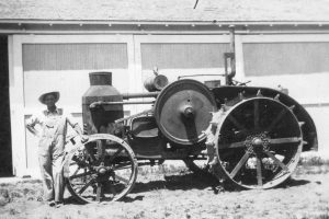 "In 1926 Sid Davis added a Rumely ""25"" tractor to his line of equipment. The tractor was manufactured in La Porte, Ill. The Allis Chalmers Company took over the Rumely line in 1931. All photos courtesy of Berthoud Historical Society"