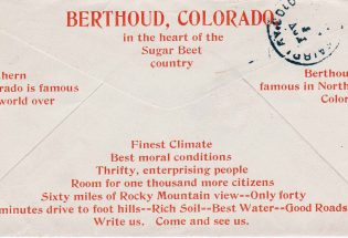 Chamber of Commerce 'boosted' Berthoud in 1907
