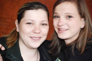 Biological sisters Natalie Stoesz and Nastia Pugacheva pose for a photo during the Stoeszes' trip to Ukraine in April. The Trip allowed the Stoeszes' adopted children to meet their biological families.  Photos courtesy of Clarke and Kris Stoesz