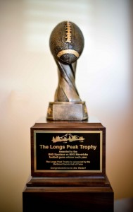 The Longs Peak trophy will be presented to the winner of the Berthoud vs. Mead football game each fall.