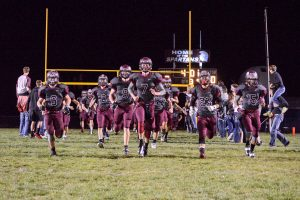 The Berthoud Spartans take the field on Oct. 17.  John Gardner / The Surveyor