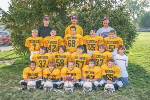 This team photo from October 2007 includes No. 25 Jackson Hall (front row second from left), No. 7 Cody Braesch, No. 33 Jimmy Fate, No. 55 Brendon Stanley, No. 42 Chad Ellis, and No. 65 Stephen Lockard (front row far right). Submitted photo
