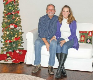 Berthoud's Bob and Debra Kouns pose for a photo in the living room of the Silo Bed and Breakfast near Berthoud.  Heidi Kerr-Schlaefer / The Surveyor