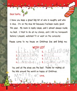Bring your children's  Letters to Santa to the Surveyor  office, 440 Mountain Ave., for publication during December. You can also scan and email if that is more convenient. Send to editor@ berthoudsurveyor.com.