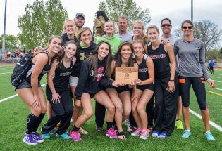 Girls track team wins third straight conference title