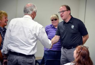 Polis discusses Iran, Planned Parenthood, and I-25 expansion at Berthoud town hall event