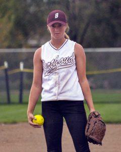 Berthoud pitcher Larissa Royer is photographed pitching last season.  Surveyor file photo