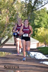 Maycee White led the girls' team, finishing in ninth place, followed closly by Sonya Schuppan who finished in 11th. John Gardner / The Surveyor