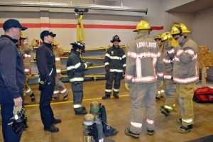 Berthoud students go through a scenario during a recent fire science class at Berthoud Fire Protection District building in Berthoud. Many high school students participate in the class offered in conjunction with Aims Community College. May Soricelli / The Surveyor