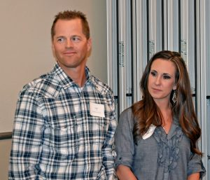 Neil and Angie Hays accepted the Business of the Year award for Hays Market at the annual Berthoud Area Chamber of Commerce Installation Dinner on Jan. 23.  Becky Justice-Hemmann / The Surveyor