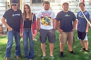 From left: BHS students Jake Fiechtner, Sierra Messick, Xander Pickardt, Collin Miller and Zac Marquardt. Courtesy photo