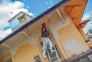 Berthoud Train Depot gets a fresh coat
