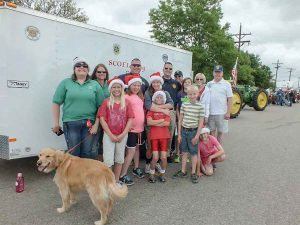 Santa Cops participants in the 2016 Berthoud Day Parade collected donations for the annual event. Courtesy photo