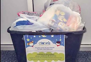 Ivy Stockwell, Berthoud Elementary donate PJs for the holidays