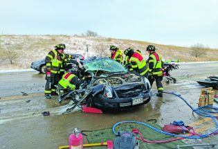 Two taken to hospital after Tuesday crash
