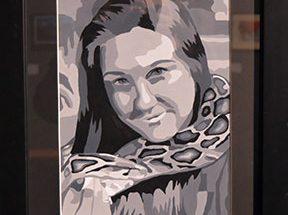 Student artwork on display through April 16