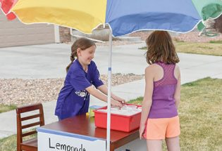 A good, ol'fashioned lemonade stand