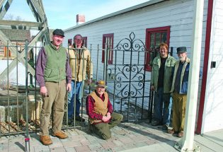 Blacksmith's designs inspire fence and gates at Pioneer Park