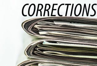 Corrections – August 24, 2017