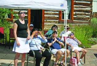 Community's eclipse party tradition continued at Pioneer Museum