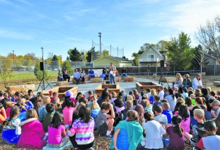 Ivy Stockwell unveils new outdoor classroom