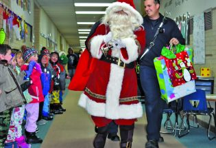 Santa and the Berthoud Fire Department bring holiday magic to a special group