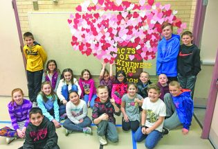 Berthoud Elementary students add heart to Kindness Tree