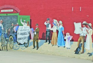 Berthoud Athletic Club mural commemorates Clymer brothers trip