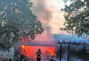 Fire destroys home at Long Shadow Farms