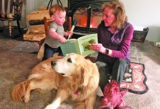 Children can practice reading with Ruby at the Berthoud library