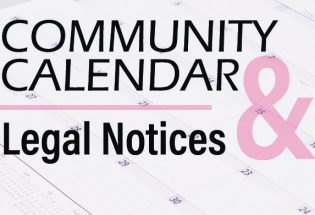 Community Calendar & Legal Notices – Semptember 5, 2019