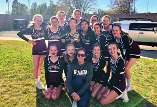 New-look Berthoud High School cheer squad shining brightly