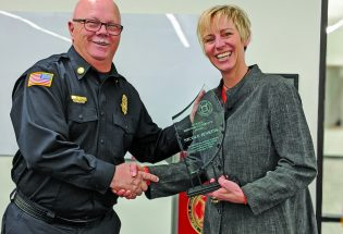 Berthoud fire honors Nicole Jenkins with award