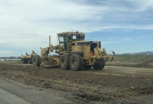 Road widening project underway on Berthoud Parkway