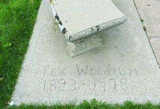 Tex Woodrum bench in Fickel Park
