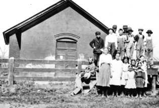 James Long and Ivy Stockwell taught school at Old Berthoud