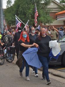 EDIT protestors leaving